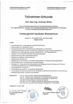 Planungsbüro-Architekturbüro-Bauplanungsbüro-Ingenieurbüro|Architekten-und-Ingenieurleistungen-aus-Chemnitz-Sachsen/Bild:Urkunde-Brandschutzsachverständiger/Ersteller:Dipl.-Ing.-Andreas-Müller